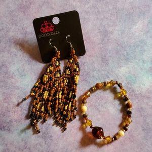 paparazzi Small Beaded Earring and Bracelet set 🧸
